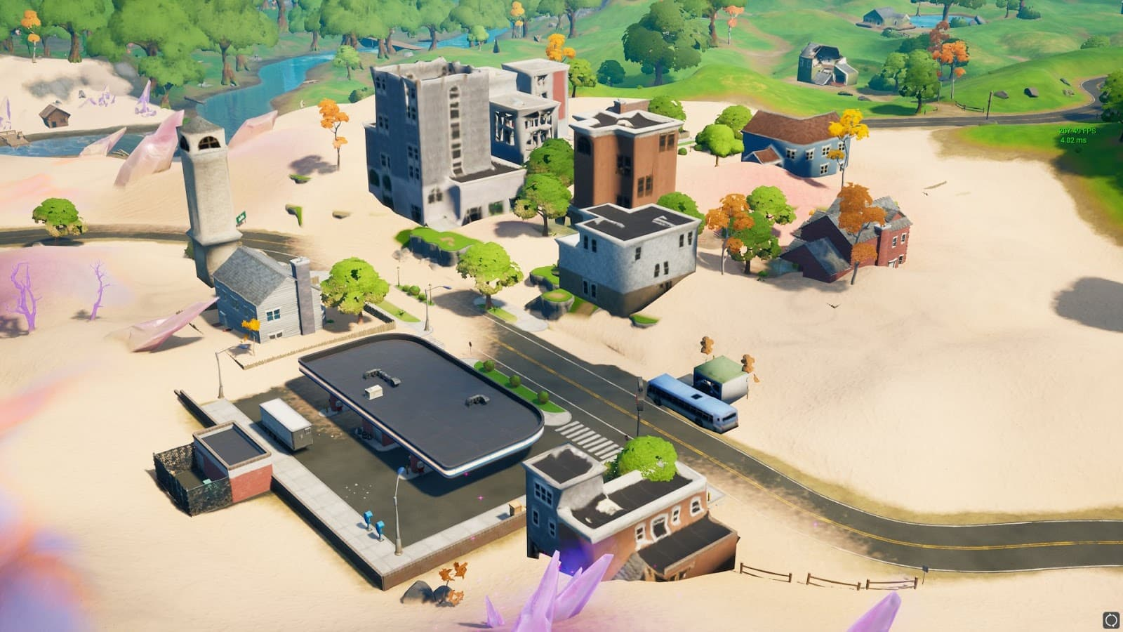 New location, Salty Towers, a desert style spin on the iconic Tilted Towers location