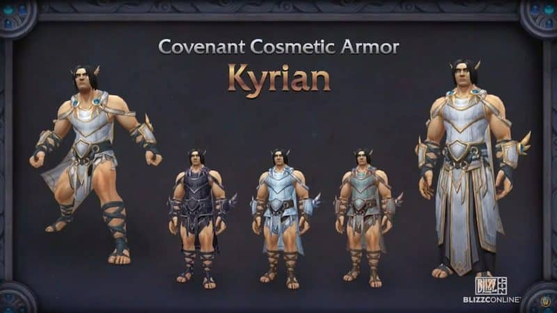 The new styles of Covenant Armor, featuring angelic Kyrian themed robes