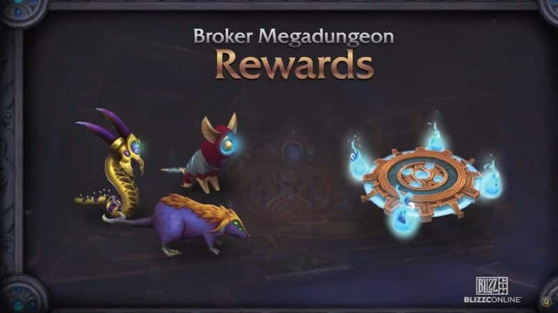 Some of the new minions which will become available in Patch 9.1 including a Shadowlands themed rat minion